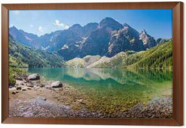 Panorama Morskiego Oka Framed Canvas