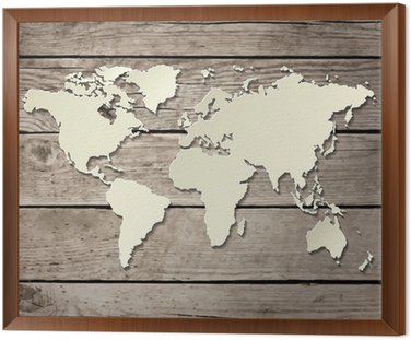 Pixers world map of the canvas map wall art old world map canvas old world map canvas paper world map on a wooden board vector wall mural pixers on map gumiabroncs Choice Image