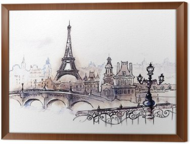 Framed Canvas Paris (series C)