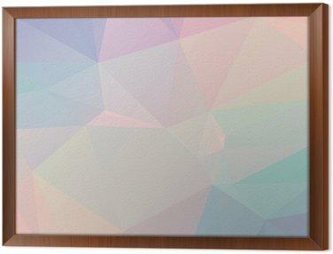 Pastel Polygon Geometric Framed Canvas