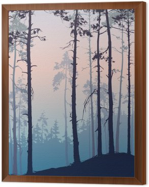Framed Canvas Pine forest