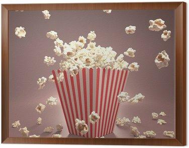 Framed Canvas Popcorn Flying
