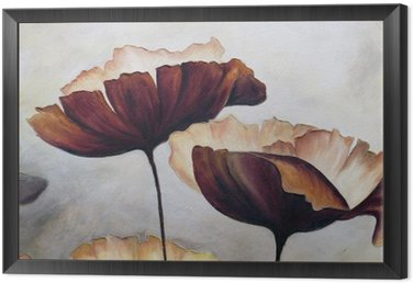 Poppy abstract painting