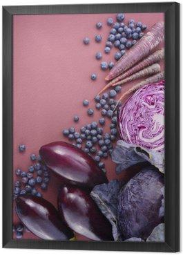 Purple fruits and vegetables Framed Canvas