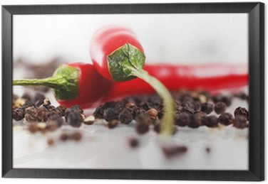Framed Canvas Red chilli pepper
