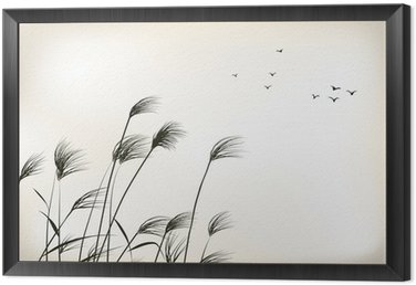Framed Canvas reed painting