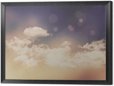 Retro clouds and sky background
