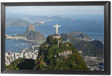 Framed Canvas Rio de janeiro - Corcovado