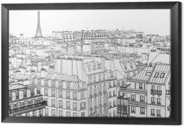 roofs in Paris Framed Canvas