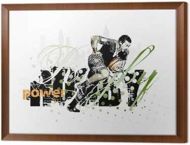 Framed Canvas rugby 1