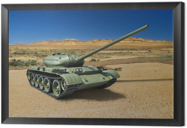 Framed Canvas Russian Soviet medium tank T-54 of 1946