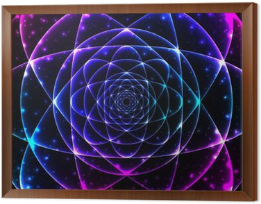 Framed Canvas Sacred geometry symbol. Mandala mystery element