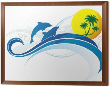 Framed Canvas sea-style
