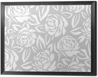 Seamless abstract rose flower background Framed Canvas