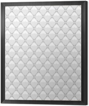 Seamless White Leather Upholstery Framed Canvas