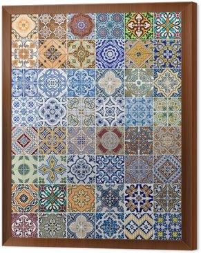Set of 48 ceramic tiles patterns