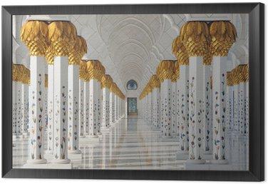 Sheikh Zayed Mosque in Abu Dhabi United Arab Emirates Framed Canvas