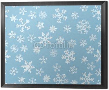 Framed Canvas Snow Seamless Light Blue Vector Background