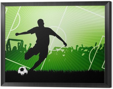 Framed Canvas soccer background
