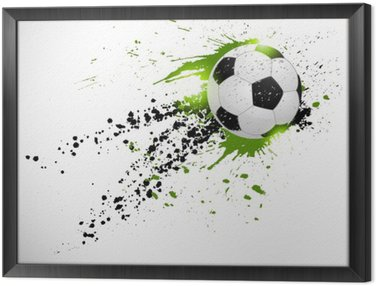 Framed Canvas Soccer design