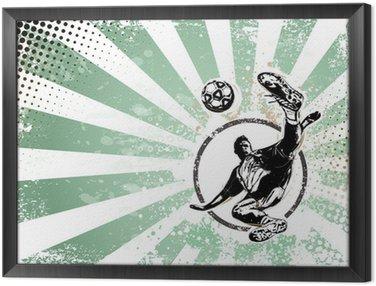 Framed Canvas soccer retro poster background