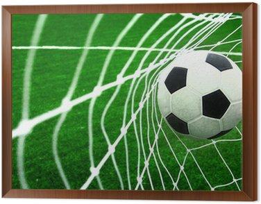 Framed Canvas soccer