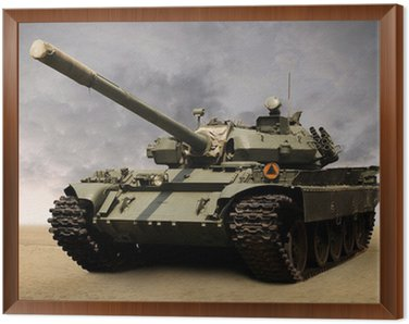 Framed Canvas Soviet tank