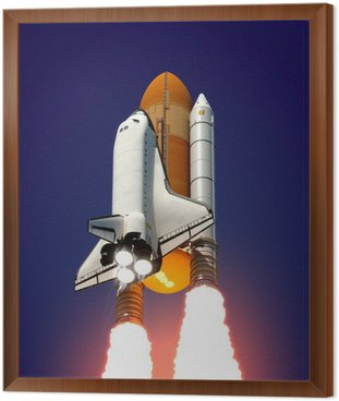 Framed Canvas Space Shuttle