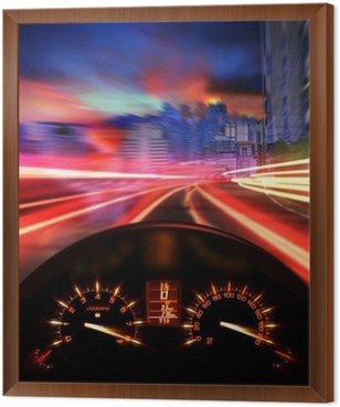 Framed Canvas Speedometer