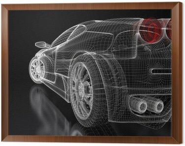 Framed Canvas Sport car