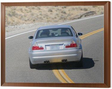 Framed Canvas sports car