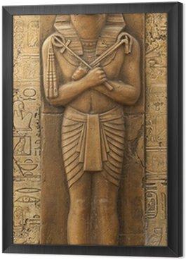 Framed Canvas Statue of Horus