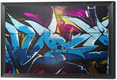 Street art graffiti Framed Canvas