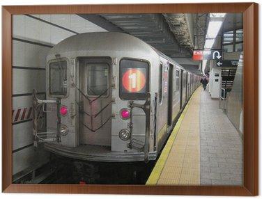 Framed Canvas subway train