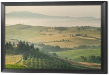 summer landscape of Tuscany, Italy. Framed Canvas