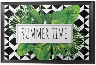 summer time tropical leaves poster