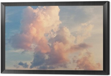 Framed Canvas Sunny sky background in vintage retro style