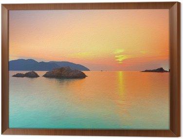 Framed Canvas Sunrise