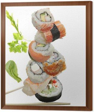 Sushi Assortment Framed Canvas