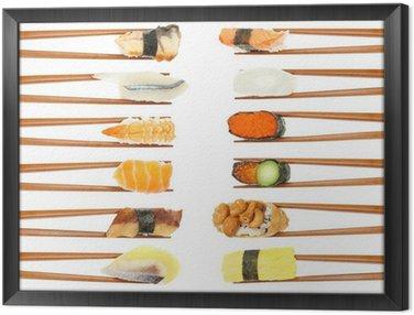 Sushi & Chopsticks Framed Canvas