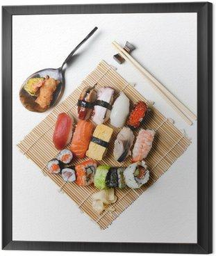Sushi lunch Framed Canvas