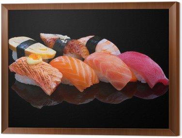 Sushi Set Framed Canvas
