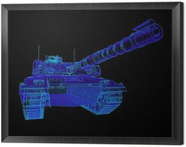 Technical illustration of the Challenger Main Battle Tank.