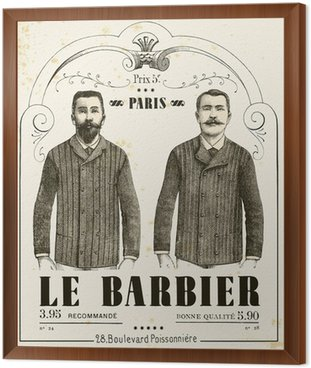Framed Canvas The Barber
