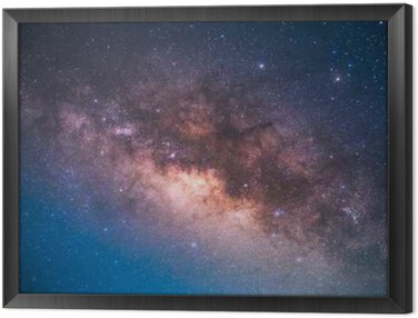the center of the milky way galaxy Framed Canvas