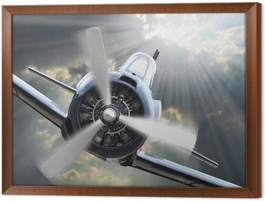 The Fighter. Retro technology theme. Framed Canvas