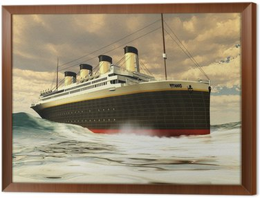 Framed Canvas TITANIC OCEAN-LINER