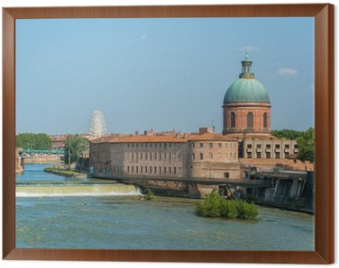 Toulouse - Hôpital de La Grave Framed Canvas