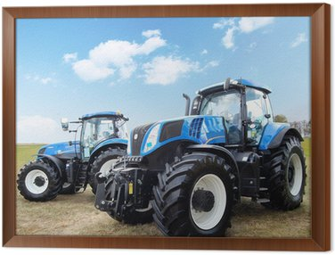 Framed Canvas Tractor
