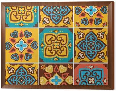 Framed Canvas Traditional ceramic tiles patterns